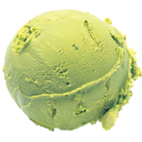 Cantaloupe glossy ice cream